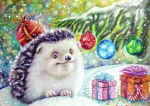 Hedgehog Hedgehog Art Diamond Painting Painting Kits