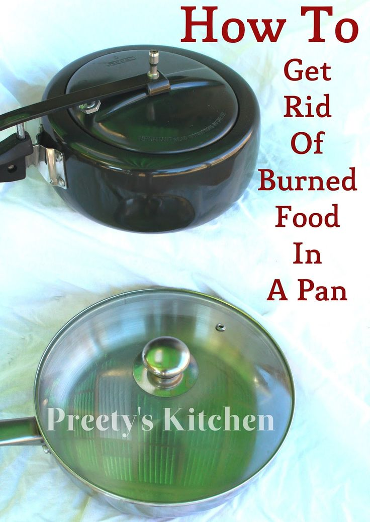 how to get rid of burnt smell in food
