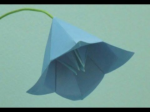 Easy origami flower instructions - How to make origami flowers bell This instructional animated video teach you how to easily fold origami flowers bell Japan...