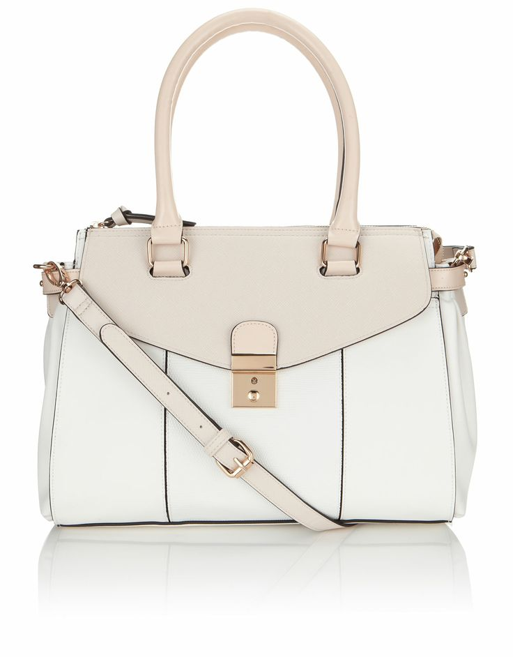 Pippa Double Pocket Lady Bag | Cream | Accessorize