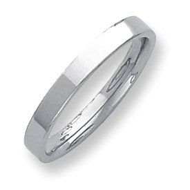 Palladium Flat Comfort Fit 3.00mm Band Ring - Size 4.5 - JewelryWeb JewelryWeb. $247.40
