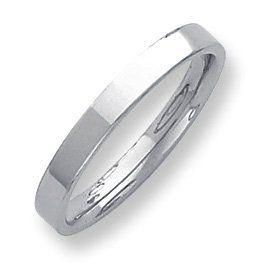 Palladium Flat Comfort Fit 3.00mm Band Ring - Size 4.5 - JewelryWeb JewelryWeb. $247.40