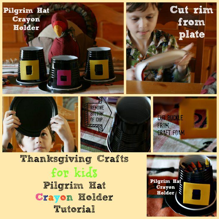 Thanksgiving Crafts for Kids Pilgrim Hat Tutorial @ Cupcakes and Crinoline