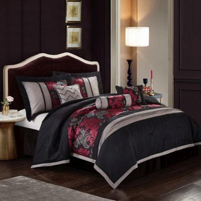 Nanshing Lincoln 7-Piece California King Comforter Set In Red