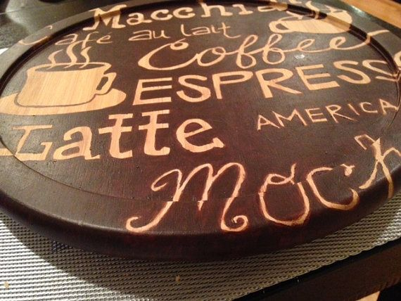 hand painted lazy susan 45 etsy