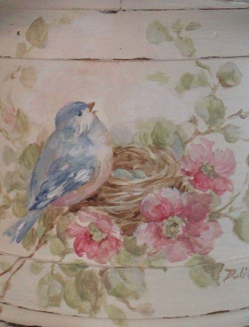 Debi Coules Bird | Debi Coules Shabby French Chic Art
