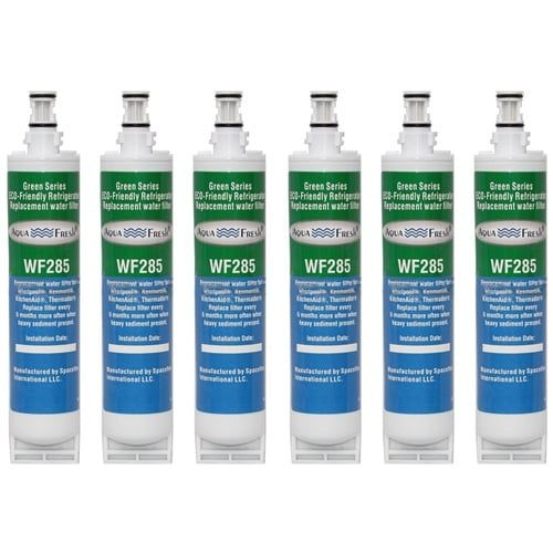 Replacement Water Filter Cartridge For Whirlpool Refrigerator GC5SHGXLS01 - (6 Pack), Blue aqua