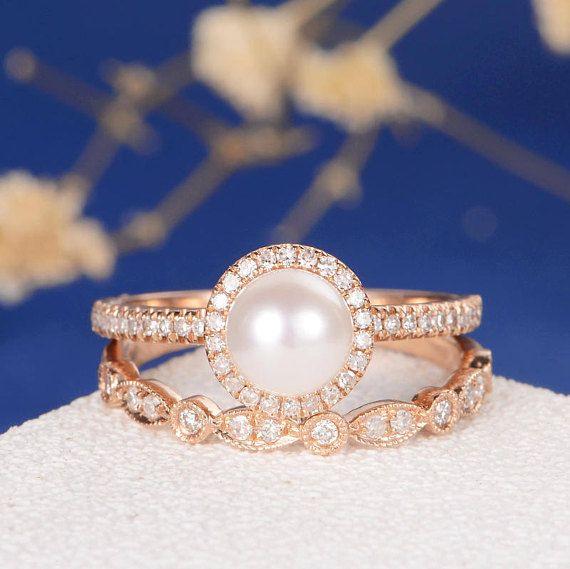 Best 25+ Pearl Engagement Rings Ideas On Pinterest