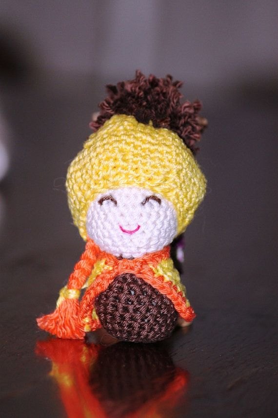 Winter hat girl  mini amigurumi