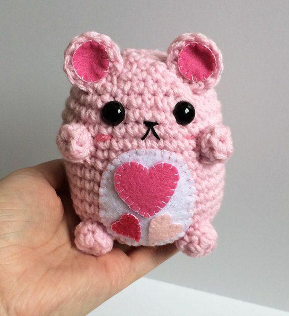Valentine's Bear Plushie – Kawaii Amigurumi Teddy Bear – Cute Crochet Bear P…