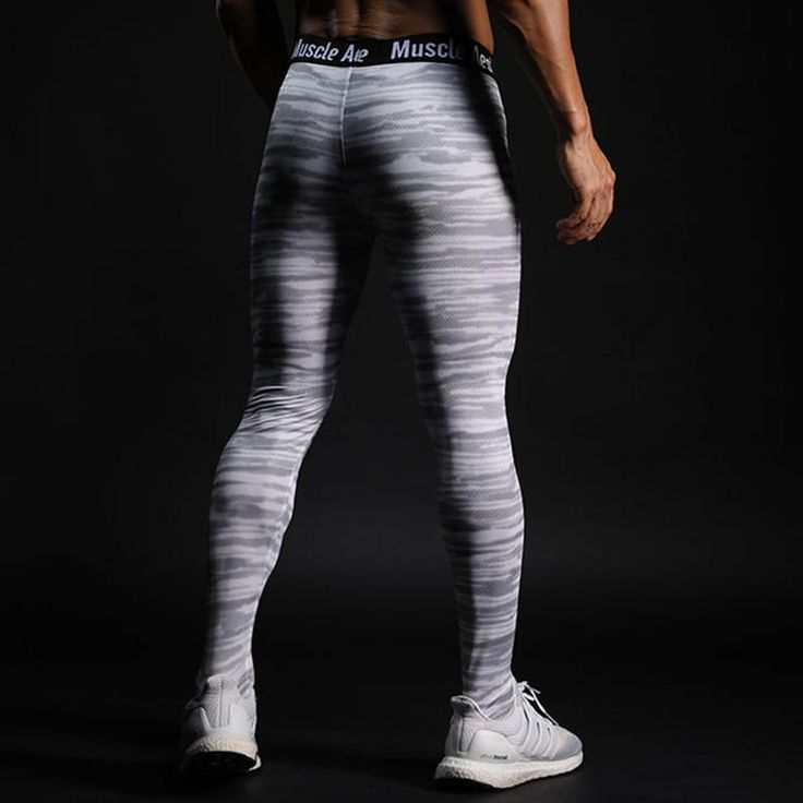 New Men Gyms Leggings Step Foot Pants  Fitness Workout Sporting Fitness Male Bre…