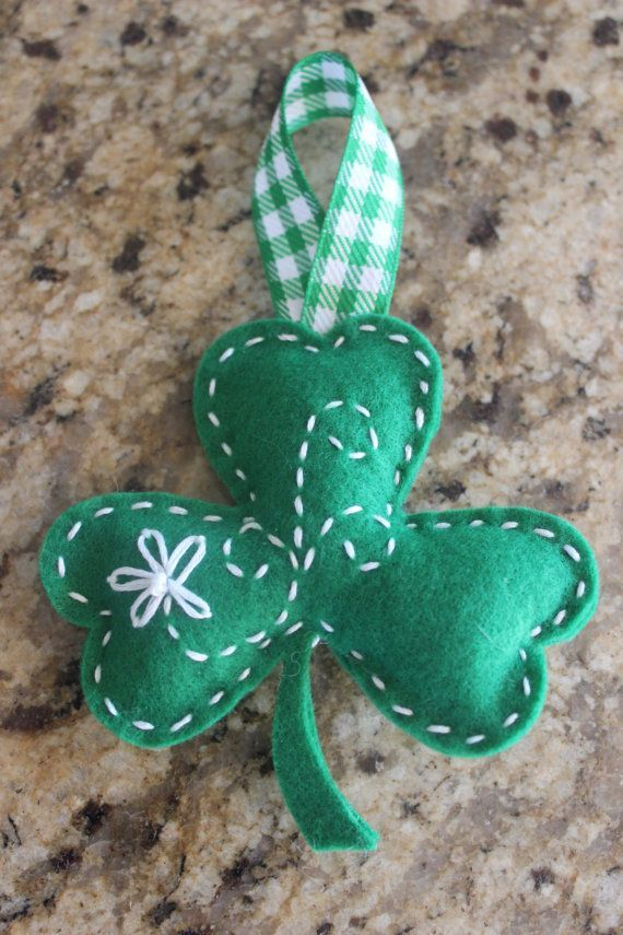 Embroidered St. Patrick's Day Felt Shamrock by jwgcreations