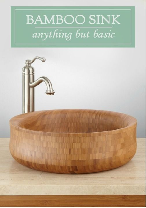 This Round Bamboo Vessel Sink is an uncommon and beautiful way to top off your bathroom vanity. This sink shows off the unique variations in bamboo's coloring.