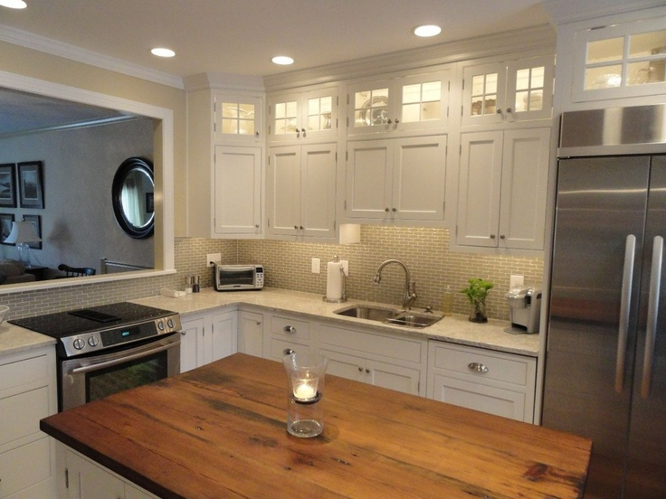 Two Different Countertops | New Kitchen Ideas | Pinterest | Countertops,  Traditional Kitchen And Wood Counter