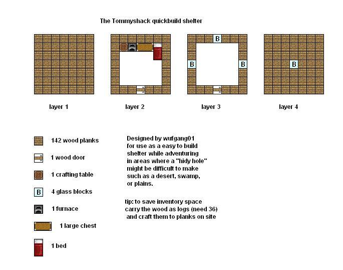 Minecraft floorplans tommyshack by for Minecraft house blueprints