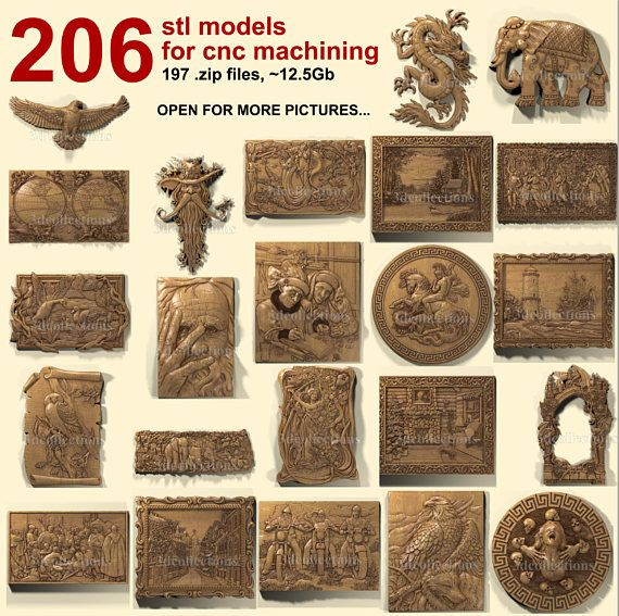 ATTENTION! These items are DIGITAL 3D models (*STL file format) for ARTCAM, ASPIRE, CUT3D software applications. These are not vectric, not bitmap file, not G-code. NOT material wooden or plastic stuff.