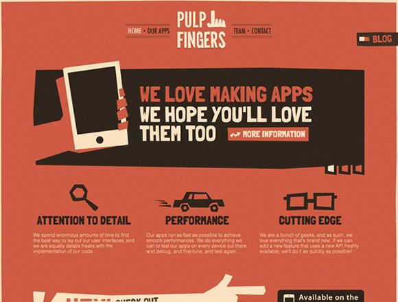 20 Inspiring Examples of Textures in Web DesignDesign Inspiration, Webdesign, Web Inspiration, Web Design, Saul Bass, Pulp Fingers, Graphics Design, Website Design, Website Inspiration