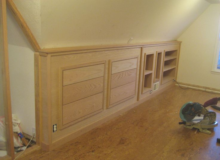 Finished built-in knee wall cabinetry! | Flickr - Photo Sharing!