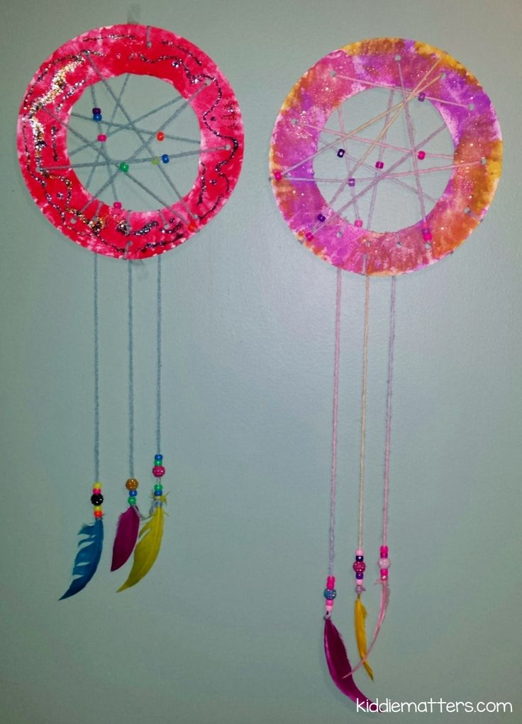 Easy diy kid 39 s dream catcher easy diy catcher and children for Ideas for making dream catchers