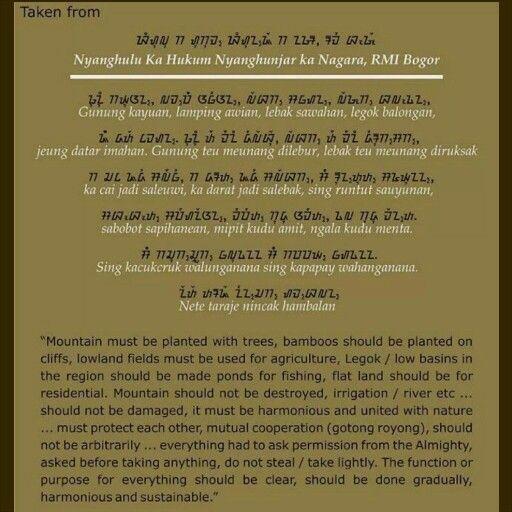 Sundanesse ancient local genius that inspired us