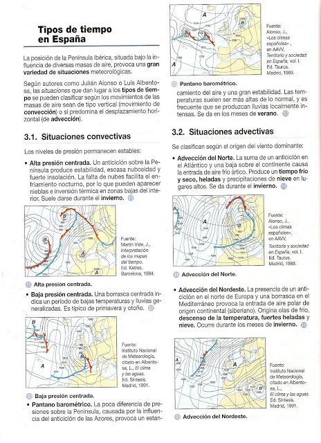 HISTORIA Y GEOGRAFÍA: Tipos de tiempo en España