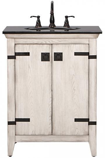 Website Picture Gallery Home Decorators Collection Glenwood in Vanity in Distressed White with Granite Vanity Top in Black The Home Depot