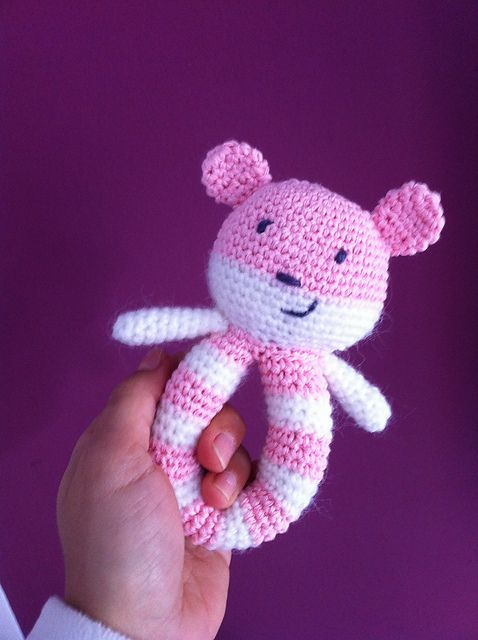 [Free Pattern] This Easy To Make Baby Rattle Is So Adorable! - Knit And Crochet Daily
