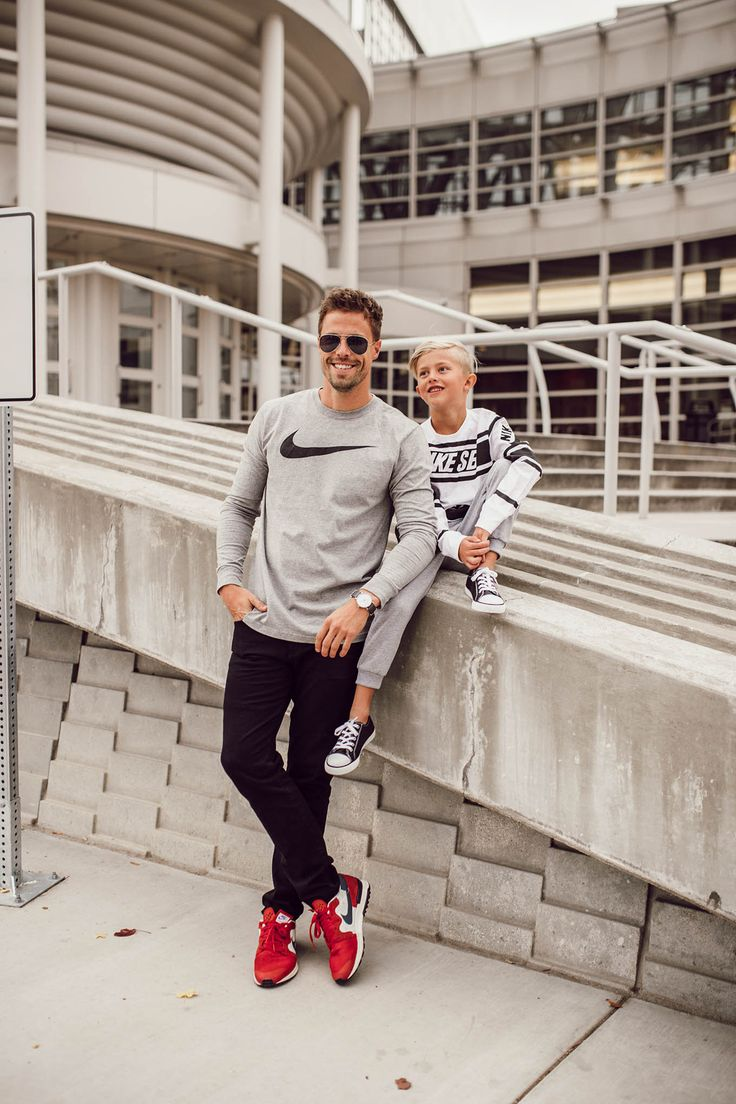 Dad and son Nike style