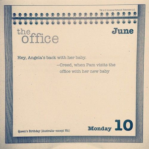 Today's message from #TheOffice