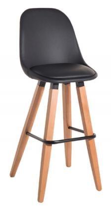 Tsouna Madi stool - Σκαμπό μπαρ με δερματίνη -με πόδια οξιάς 75 cm ( δυνατότητα…