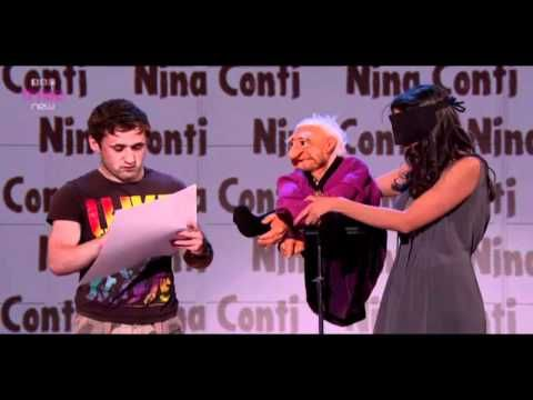 nina conti...funny skit ...but wait till the 10mins for the human dummy hillarious!