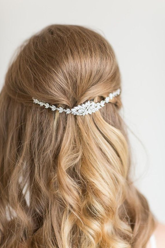 Bridal Hair Swag, Wedding Hair Jewelry, Wedding Headpiece