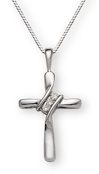 493 best christian jewelry images on pinterest his banner over me was love diamond cross pendant christian aloadofball Image collections