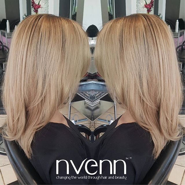 #tbt to this gorgeous BLONDE hair :) <3  #blondehaircare #blondehair #blondes #nvenninc #yychair #yeghair #bbloggers  #beauty #behindthechair #style #hair #salons #hairstylists #nvennhairbeautybar #nvennblonde