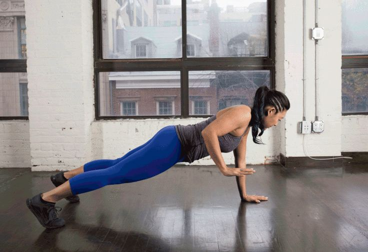 9. Plank With a Row #bodyweight #workout #tabata http://greatist.com/fitness/best-tabata-moves