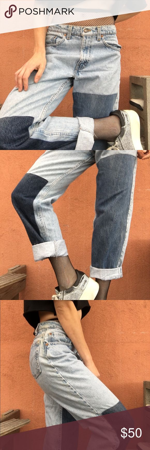 "Relaxed fit patchwork Levi jeans. Never worn. Waist 31"", Length 34"".  #jeans #boyfriendjeans #boyfriend #levisjeans #levis #patchwork #relaxedfit #athleticwear #denim #cheap #urbanoutfitters #fall #fallfashion #depop #forsale #vintage #fashion #style #vintagefashion #vintagestyle #unique Levi's Jeans Boyfriend"
