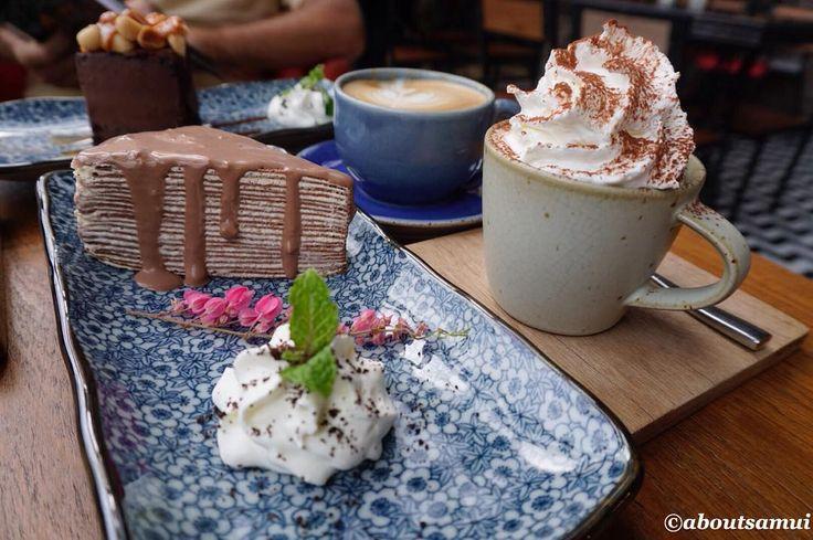 """Всем кофеманам привет!) Если на Самуи в обычных тайских кафе и ресторанчиках с едой всё ок то кофе как правило готовят """"не очень"""". И чтобы насладиться бодрящим и ароматным  нужно отдельно идти в булочную или кофейню. Из крупных кофейных сетей на Самуи представлены: Starbucks Black Canyon Coffee Club Coffee World Amazon  Обычно мы предпочитаем Starbucks но сегодня открыли для себя новое несетевое местечко: Cream Cafe Samui возле Central Festival на Чавенге Понравился и кофе и десерты и…"""
