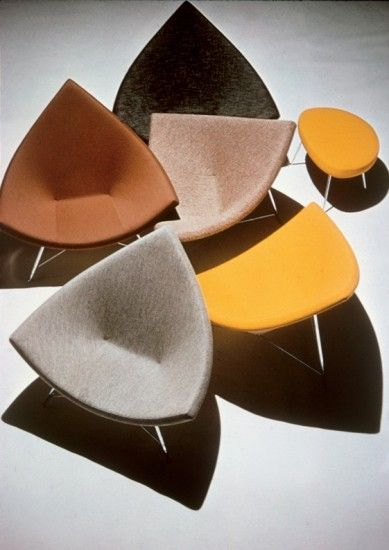 Coconut Chairs and ottoman, 1956