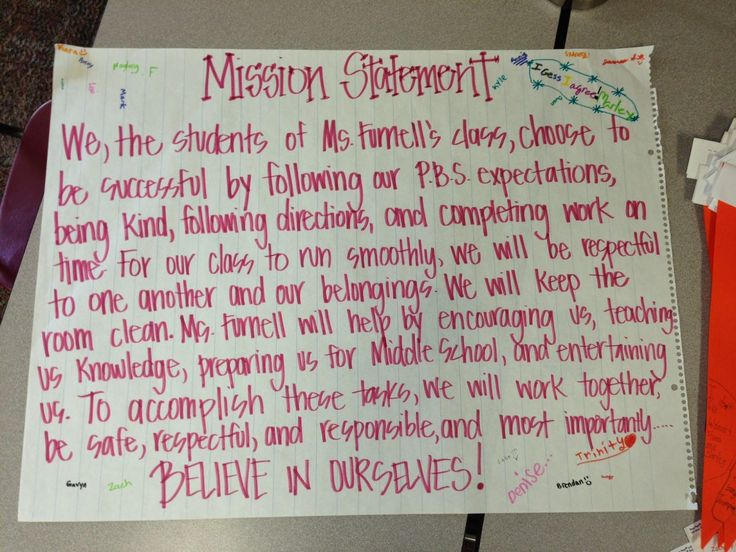 Life is Better Messy Anyway: Creating a Classroom Mission Statement