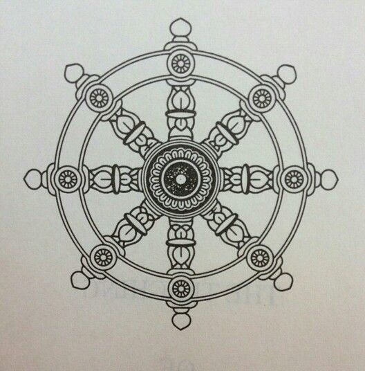 The wheel of Dharma                                                                                                                                                     More
