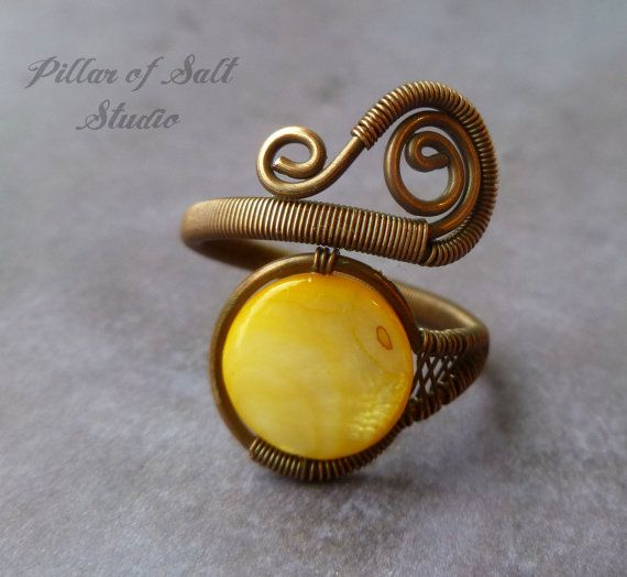 Adjustable ring / boho jewelry / Copper by PillarOfSaltStudio, $23.00