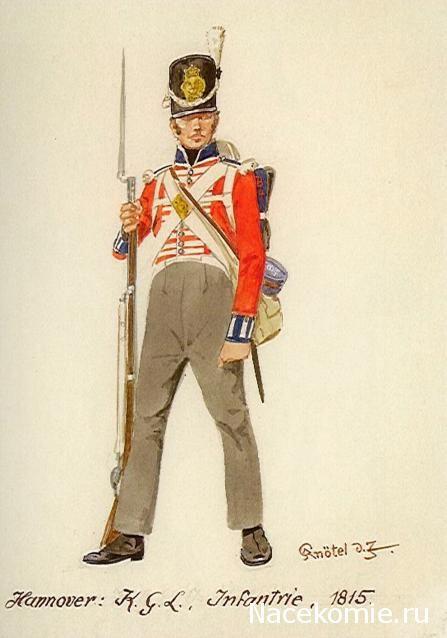 SOLDIERS- Knötel: NAP- Britain: British Hanover Infantry of the King's German Legion 1815, by Knötel.