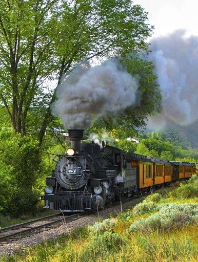 The Durango & Silverton Narrow Gauge Railroad. One of our favorite things to do while visiting Pagosa Springs & Durango, Colorado.