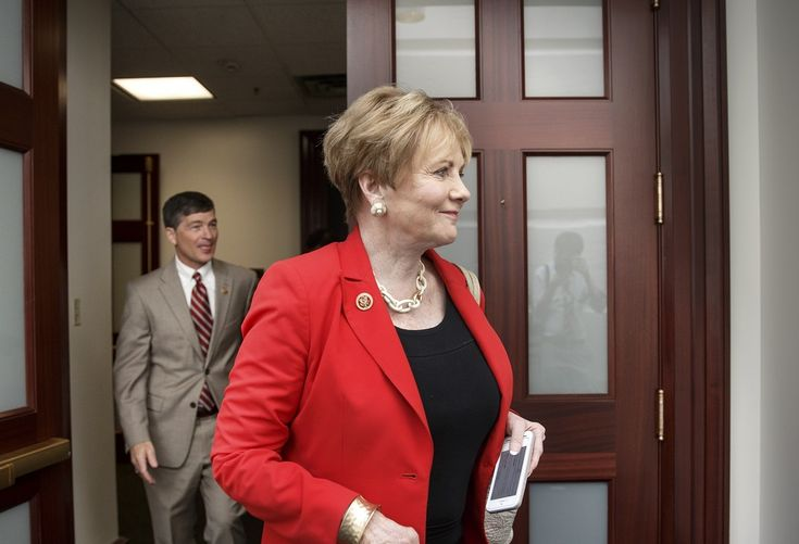 Rep. Kay Granger, R-Texas, who has been leading the House GOP working group examining the influx of illegal immigrants at the U.S.-Mexico border, leaves a closed-door Republican strategy session where Republicans met on the crisis after last-minute maneuvering failed to lock down conservative support, at the Capitol in Washington, Thursday, July 31, 2014. At left is Rep. Jeb Hensarling, R-Texas. The surprise developments, coming on Congress' final day of action ahead of a five-week summer…