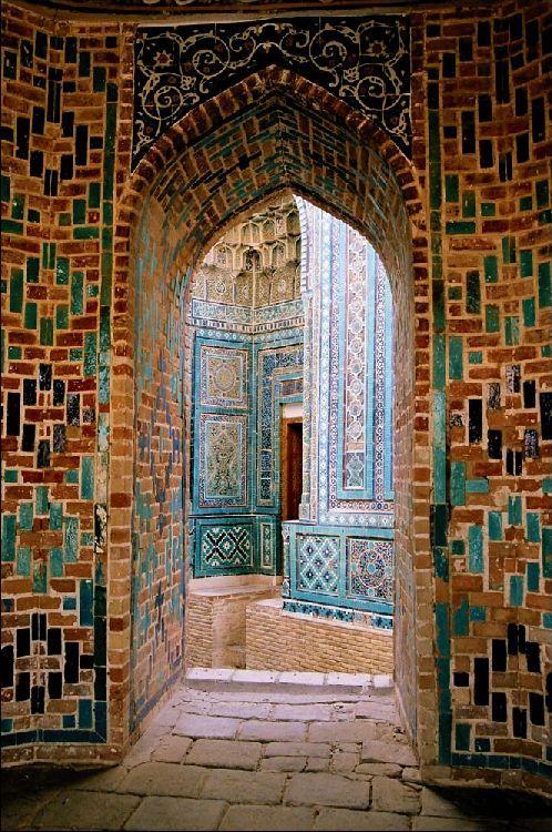 Shah-i-Zinda is a necropolis in the north-eastern part of Samarkand, Uzbekistan.