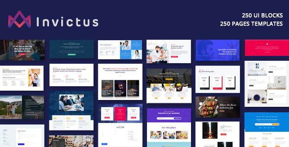 Invictus - Creative MultiPurpose WordPress Theme If you are looking for one of the best Multi-Niche and Multi-purpose WordPress theme available on ThemeForest, then stop looking for it. Invictus theme, with built in Ultra responsive and high performance functionalities, means you can literally build