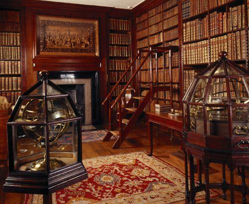The Library at Dunham Massey, Cheshire, England photo via ejscott