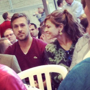 He was at my university!!! Too bad I wasn't there :( Ryan Gosling, Eva Mendes, @ Brock University