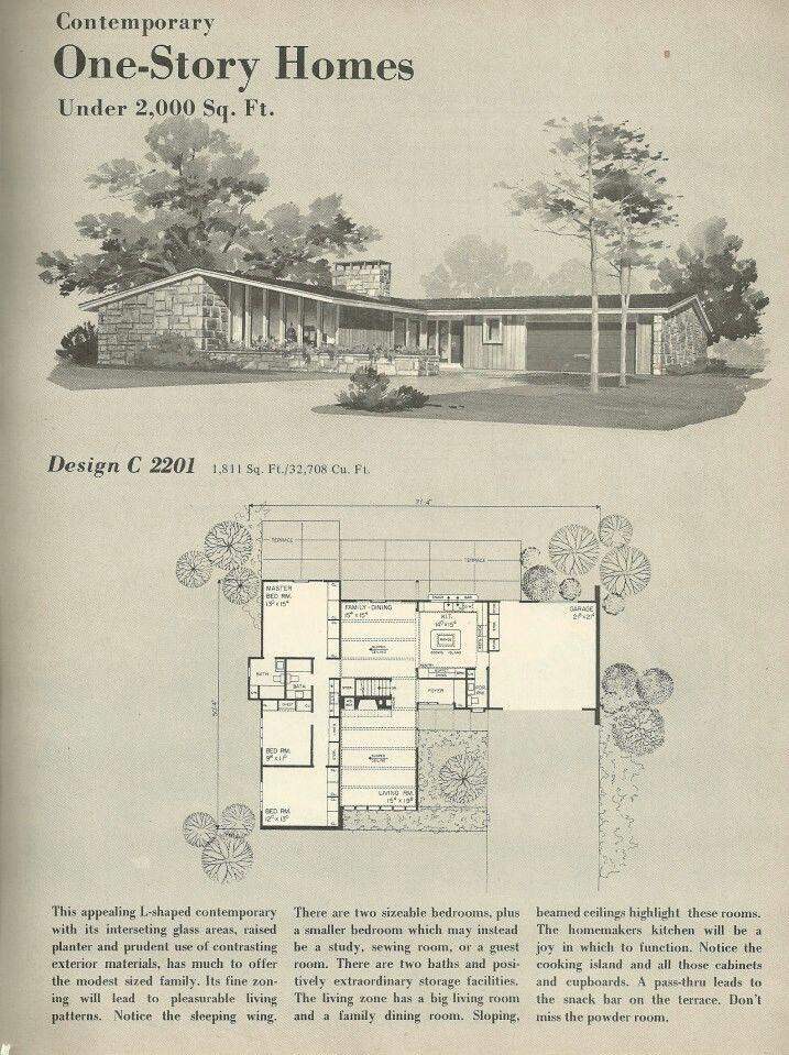 MID-CENTURY MODERN HOUSE.  These were never this cool in the 50's.  Now I would love one!