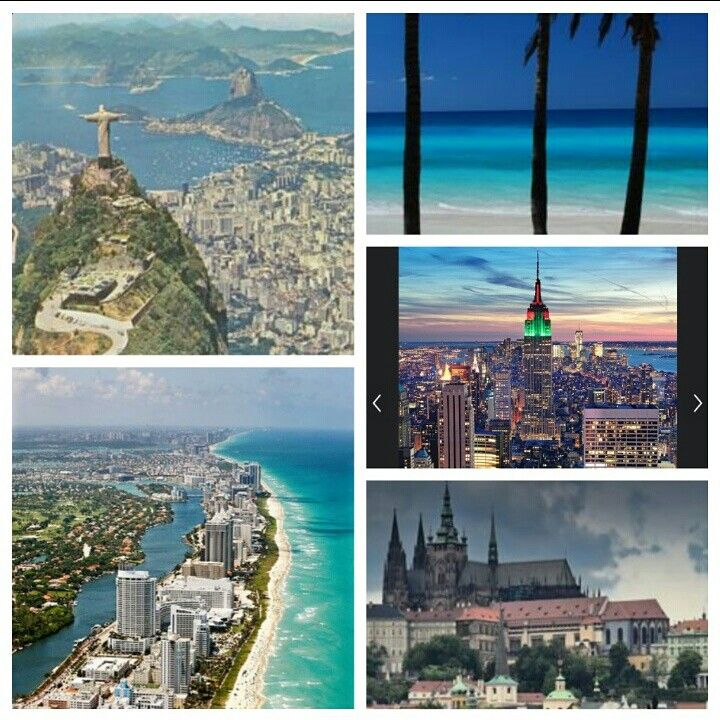 The best Places: l' Avana, Miami, Prague , Rio de Janeiro, Manhattan